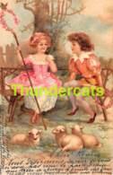 CPA LITHO ILLUSTRATEUR  ENFANT CHILD CHILDREN  (  STYLE CLAPSADDLE - BRUNDAGE ) - Autres Illustrateurs
