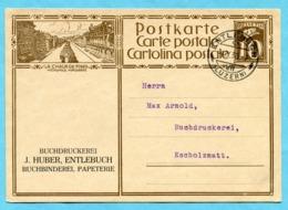 Postkarte Entlebuch 1930 Mit Zudruck Buchdruckrei J. Huber - Interi Postali