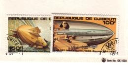 DJIBOUTI 1980 ZEPPELINS   YVERT  N°A144/45 NEUF MNH** - Zeppelins