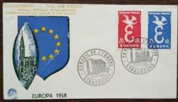 FDC 1958 - YT N°1173, 1174 - EUROPA / CONSEIL DE L'EUROPE - STRASBOURG - FDC