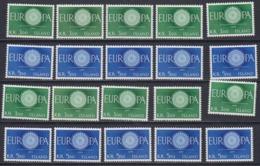 Europa Cept 1960 Iceland 2v (10x) ** Mnh (44990) - 1960