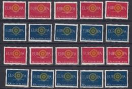 Europa Cept 1960 Netherlands 2v (10x) ** Mnh (44991) - 1960