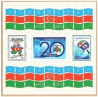 Azerbaijan 2012 .Azernmarka 1992-2012 (stamps). S/S: 1m.  Michel # BL 115 - Azerbaiján