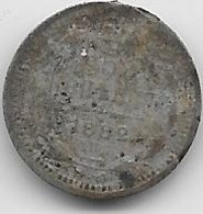 Russie - 5 Kopeks - 1882 - Argent - Russie