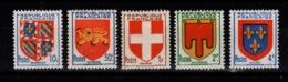 YV 834 à 838 N** Cote 2 Euros - France