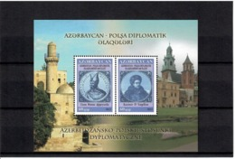 Azerbaijan 2012 . Azerbaijan-Poland Relations. S/S Of 2v: 60, 60. Michel # BL 118 - Azerbaiján