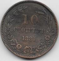 Bulgarie - 10 Stotinki - 1881 - Bulgarije