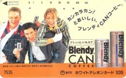 COFFEE - CAFE - PUBLICITE - PUB  - Télécarte Japon - Werbung