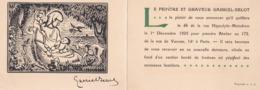 GABRIEL-BELOT, Peintre Et Graveur Annonce Sa Nouvelle Adresse 1er Décembre 1925 Avec Une Gravure - Anuncios