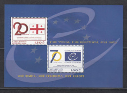 Georgien Georgia  MNH** 2019 70 Year Council Of Europe  Mi 733-34 Bl.88 - Georgien