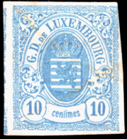Luxembourg 0006 (o) 10c Bleu Clair - 1859-1880 Coat Of Arms