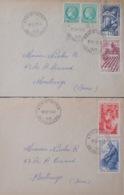 R1949/1185 - TYPE CERES De MAZELIN N°680 (PAIRE) + SERIE Des METIERS N°823 à 826 Sur ✉️ - France