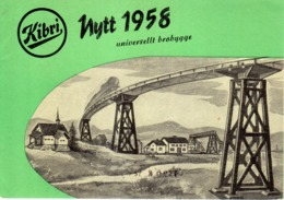 Catalogue KIBRI Nytt 1958 Plastik - Modeller  Spår HO 1/87 Folder  - En Suédois - Books And Magazines