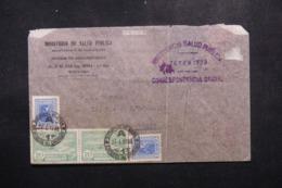 URUGUAY - Enveloppe Du Ministère Du Salut Public Pour Paris En 1938, Affranchissement Et Oblitération Plaisant - L 44292 - Uruguay