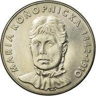 Monnaie, Pologne, Maria Konopnicka, 20 Zlotych, 1910, Warsaw, TTB - Pologne