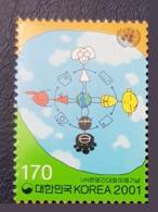 KOREA 2001 DIALOGUE DIALOGO DIALOG AMONG CIVILIZATIONS CIVILISATIONS JOINT ISSUE RARE MNH - Emissions Communes