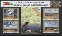 Ethiopia - Ethiopie (2018) - Block -  /  Train - Locomotive - Railway - Joint Issue With Djibouti - Eisenbahn - Trains - Trains
