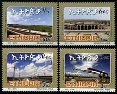 Ethiopia - Ethiopie (2018) - Set -  /  Train - Locomotive - Railway - Joint Issue With Djibouti - Eisenbahn - Trains - Eisenbahnen