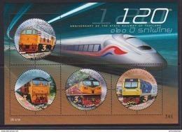 Thailand (2017) - Block -  /  Railroad - Train - Trenes - Locomotives - Eisenbahn - Trains - Trains