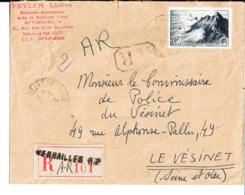 Enveloppe Feyler Lucien. Huissier Audiencier Près Le Tribunal Civil De Versailles. Au Commissaire De Police Du Vésinet - Frankreich