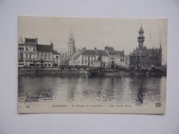 OSTENDE OOSTENDE Bassin Du Commerce Publicité Javel COTELLE-CROIX Lessive Bateau à Voile Train - Oostende