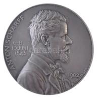 Ausztria 1903. 'Anton Scharff' Halálának Emlékére Készített Jelzett Ag Emlékérem. Szign.: Neuberger (24,05g/36mm) T:1 /  - Zonder Classificatie