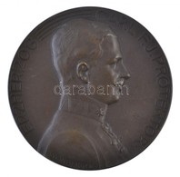 Ausztria 1913. 'Károly Főherceg / Német-cseh Kiállítás 1913' Br Emlékérem. Szign.: Weinberger (73,5g/60mm) T:1 /  Austri - Zonder Classificatie