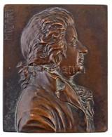 Ausztria(?) DN 'Mozart' Egyoldalas, öntött Br Plakett (128,51g/65x53mm) T:1-,2 Patina / Austria(?) ND 'Mozart' One-sided - Zonder Classificatie
