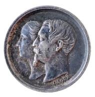 Franciaország / Második Császárság 1856. 'Napóleon Lajos Születése' Ag Zseton. Szign.: Caqué (2,09g/15mm) T:1- Patina /  - Zonder Classificatie