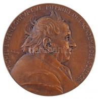 Franciaország 1886. 'Michel Eugene Chevreul 100. Születésnapja' Br Emlékérem, Peremén 'BRONZE' Jelzés. Szign.: O. Roty ( - Zonder Classificatie