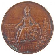 Orosz Birodalom 1912. 'Moszkvai Hitelintézet 50. évfordulója' Br Emlékplakett, Peremén 'BRONZE' Jelzéssel (339,56g/80mm) - Zonder Classificatie