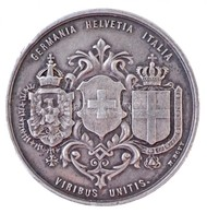Svájc 1880. 'GERMANIA HELVETIA ITALIA - VIRIBUS UNITIS / AI LAVORANTI AL TRAFORO DEL GOTTART - DEN ARBEITERN AM GOTTHARD - Zonder Classificatie