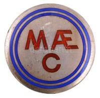 ~1910-1930. 'MAEC (Magyar Aero Club)' Zománcbetétes, Jelzett Ag Jelvény (br. 9,33g/28mm) T:1- / Hungary ~1910-1930. 'MAE - Zonder Classificatie