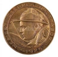 Sződy Szilárd (1878-1939) 1926. 'Nemzeti Cserkésznagytábor' Cu Jelvény (28,5mm) T:1 / Hungary 1926. 'Nemzeti Cserkésznag - Zonder Classificatie