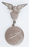 1932-1933. 'REMOSZ Sportverseny' Ezüstözött Br Repülős Díjérem, Turulmadaras Jelvénnyel, érem Hátoldalán 'LUDVIG' Gyártó - Zonder Classificatie