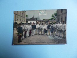 Les Plaisirs De La Caserne  -  Répétition Des Trompettes  -  Colorisée  -  Adressée De Besançon  1907  - - Personnages