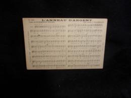 """Carte Partition """" L ' Anneau D ' Argent   """" Musique  De Chaminade . Poésie De Rosemonde Gérard.  Voir 2 Scans . - Musique Et Musiciens"""