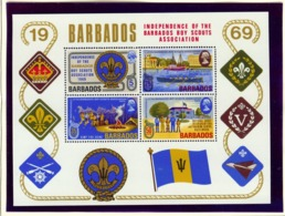 BARBADOS  -  1969 Scouts Miniature Sheet Unmounted/Never Hinged Mint - Barbados (1966-...)