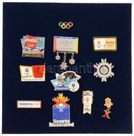 Amerikai Egyesült Államok 2002. 11db Klf Olimpiai Támogató Jelvény A Salt Lake City-ben Rendezett Téli Olimpiára, Közte  - Zonder Classificatie