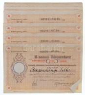 Románia / Satu-Mare (Szatmár) 1922. 'Szatmár Vármegyei Takarépénztár Részvénytársaság' Névre Szóló 5db Részvénye Egyben, - Zonder Classificatie