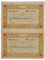 Románia / Satu-Mare (Szatmár) 1928. 'Szatmári Első Cserép és Téglagyár Részvénytársaság' Névre Szóló 10db Részvénye Egyb - Zonder Classificatie