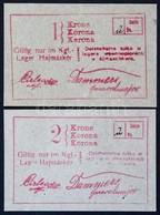 Hajmáskér / Hadifogolytábor 1914. 1K + 2K T:I,I- / Hungary / Hajmáskér / POW Camp 1914. 1 Korona + 2 Korona C:UNC,AU Ada - Zonder Classificatie