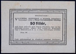 Pécs ~1914. 50f 'Pécsi Kereskedelmi Közlöny' Kitöltetlen T:I-  / Hungary / Pécs ~1914. 50 Fillér 'Journal Of Commerce Of - Zonder Classificatie