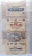 Vegyes 84db-os Papír Szükségpénz Tétel, Berakólapokon, Közte Hadifogoly Tábor Pénzek és Megyeszékhelyek 1920 Körüli Kiad - Zonder Classificatie