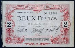 Franciaország / Cambrai 1914. 2Fr érvénytelenítve T:III / France / Cambrai 1914. 2 Franc Cancelled C:F - Zonder Classificatie