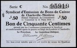 Franciaország / Charleville-Mézieres 1916. 50c T:III Foltos / France / Charleville-Mézieres 1916. 50 Centimes C:F Staine - Zonder Classificatie
