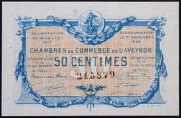 Franciaország / Aveyron 1917. 50c T:III- Tűlyuk, Szakadás / France / Aveyron 1917. 50 Centimes C:VG Pin Hole, Tear - Zonder Classificatie