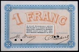 Franciaország / Besançon 1920. 1Fr Lyukasztással érvénytelenítve T:II / France / Besançon 1920. 1 Franc Cancelled With H - Zonder Classificatie