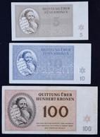 Német Harmadik Birodalom / Cseh-Morva Protektorátus / Theresienstadt Gettó 1943. Január 1. 5K + 10K + 100K Alacsony '000 - Zonder Classificatie