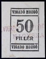 Románia / Nagyszalonta ~1920. 50f 'Vigadó Mozgó' T:I- Ragasztónyom / Romania / Salonta ~1920. 50 Fillér 'Vigadó Mozgó '  - Zonder Classificatie